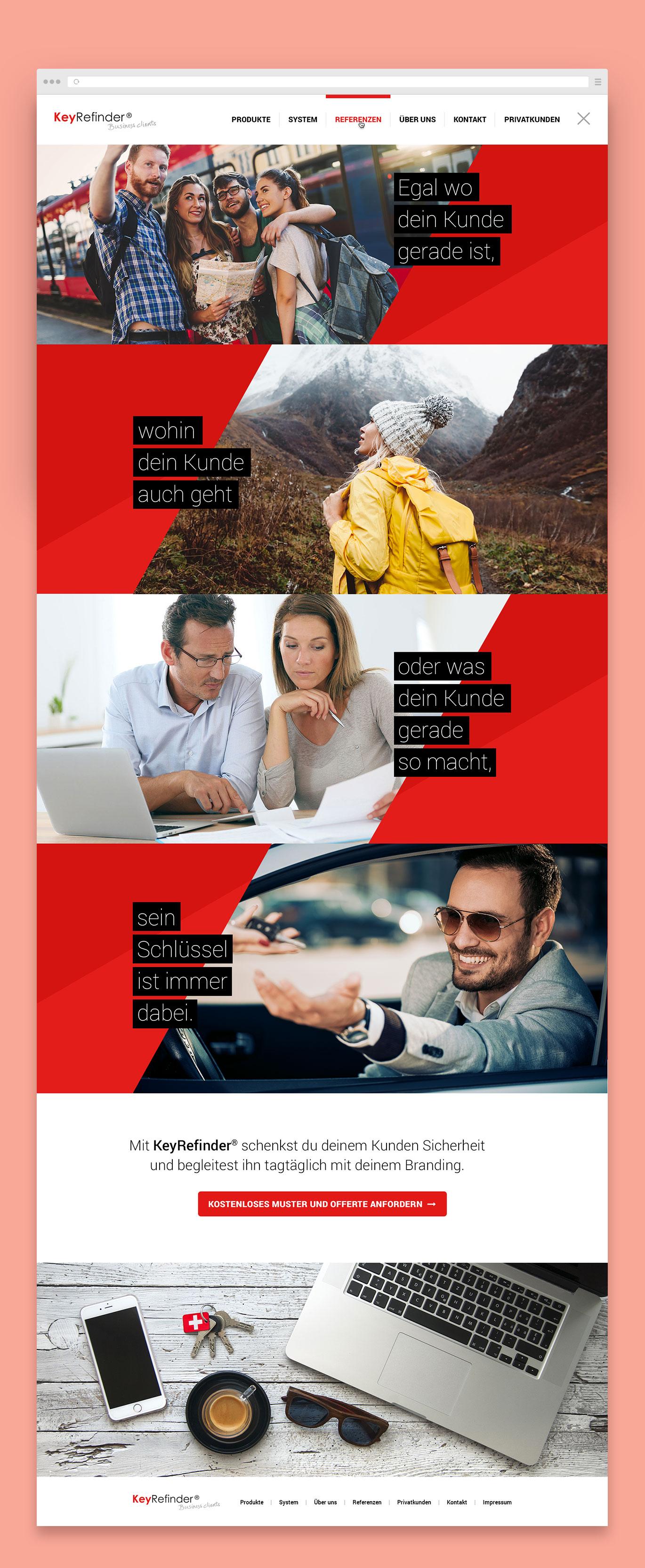 KeyRefinder Webdesign