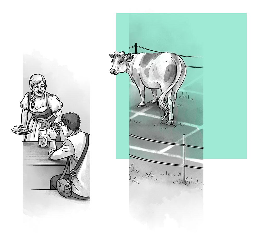 Hoch die Krüge Illustrationen
