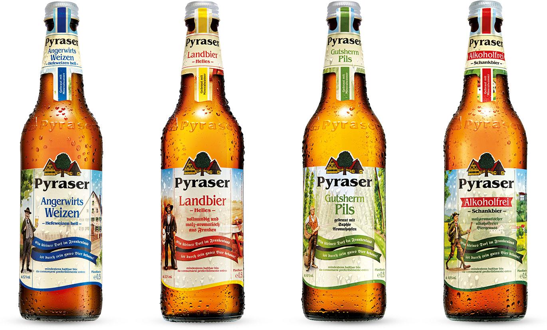 Pyraser Bierflaschen
